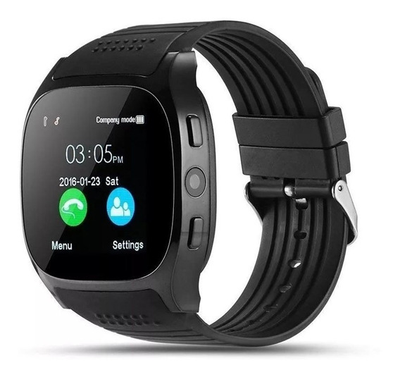 Smart Watch T8 Reloj Inteligente Celular Sim Camara Sd Touch