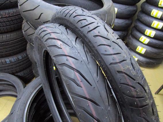 Par Pneu Biz125/pop Pirelli 80/100-14+ 2.50-17 Super City