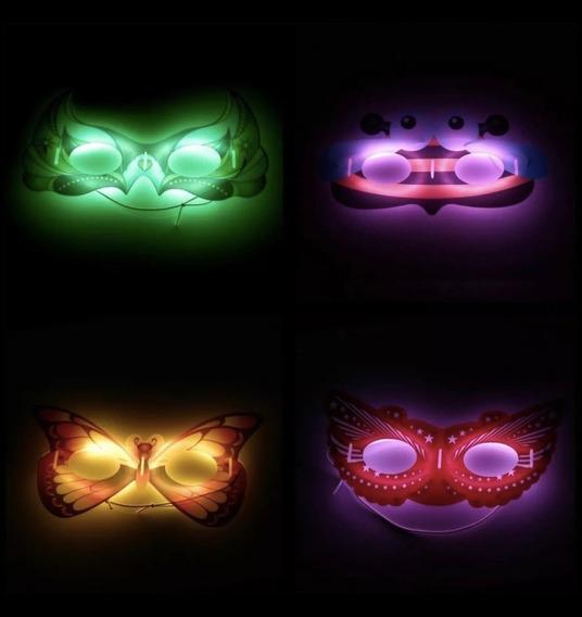 Antifaces Luminosos X 10 Antifaz Luminoso Neon Cotillon
