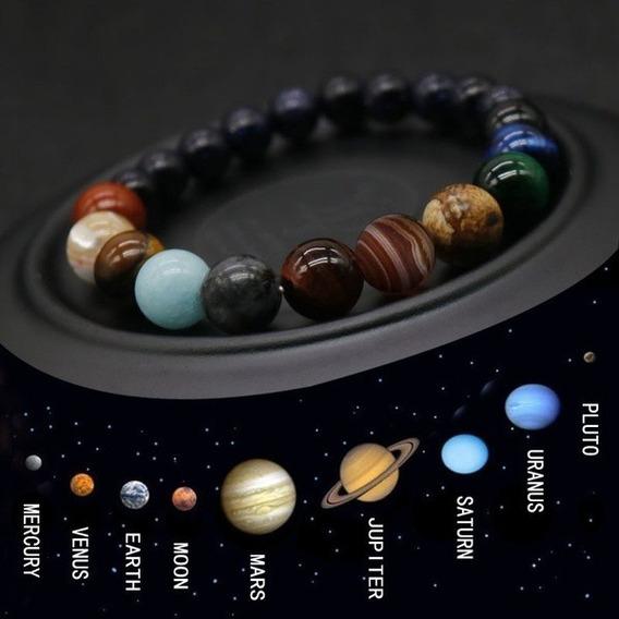 Pulseira Planetária De Pedras + Fretes Gratis
