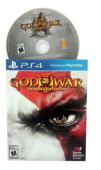 God Of War 3 Remasterizado - Ps4 - Mídia Física - Cartelado