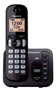 Telefone Sem Fio Panasonic Secretária Kx-tgc220lbb Preto Ori