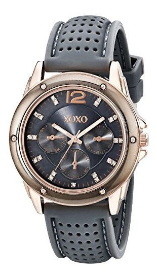 Xoxo Mujer Xo8077gris Bumpy Hule Analog Reloj