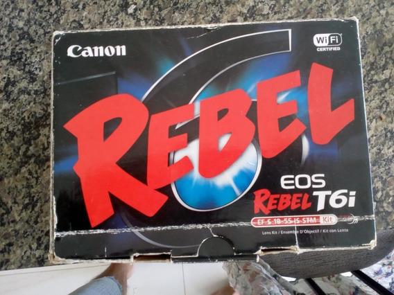Câmera Canon Eos Rebel T6i -(corpo) Despertando Suas Imagens