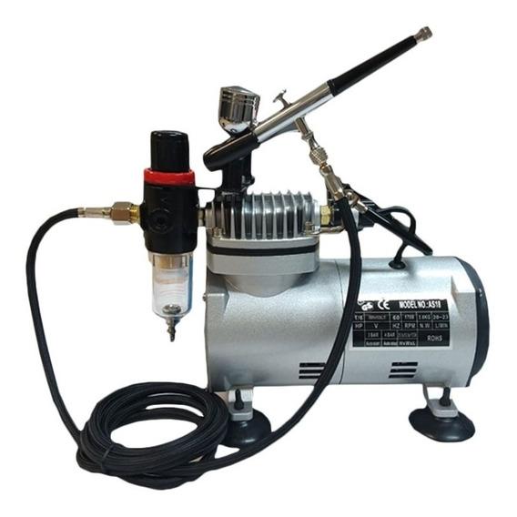 Kit Aerografo Compressor 110/220 Profissional + Aerografo