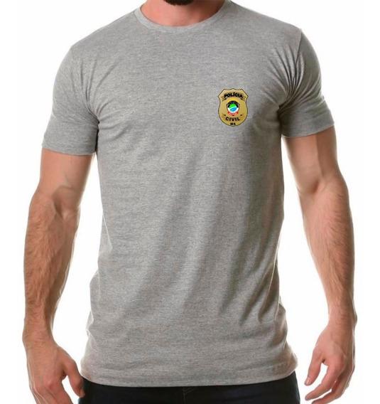 Camisa Camiseta Polícia Civil Mato Grosso Do Sul Distintivo