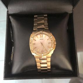 Relógio Feminino Dourado Guess Original