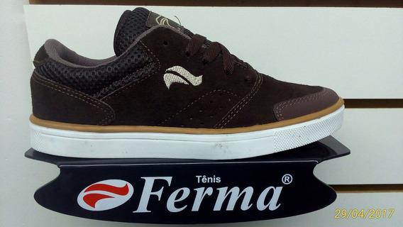 Tenis Ferma Skate Mod. B2618 Marrom Cafe