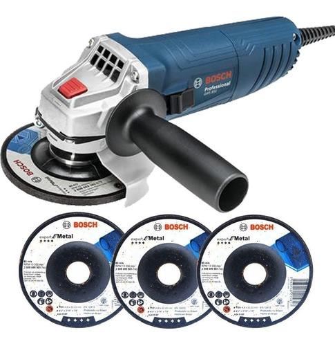 Esmerilhadeira Angular 850w 115mm Gws 850 + 3 Discos Bosch