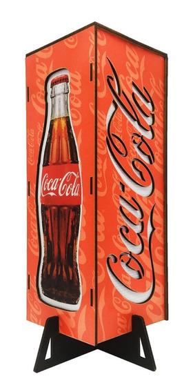 Abajur De Mesa Luminária Coca-cola Vermelha Wonka Decor