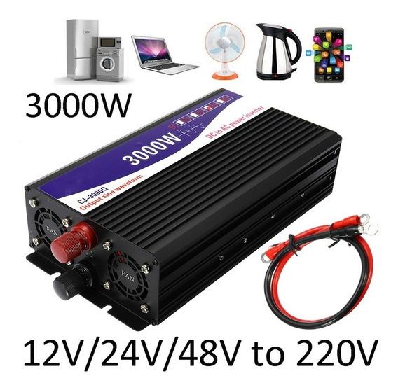 Inversor De Onda Senoidal Pura - 3000w/220v Modelo 12v