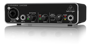 Placa De Audio Behringer Umc22 Interfaz