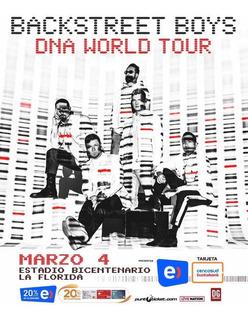 Entrada Backstreet Boys-cancha General 4marzo