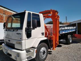 Ford Cargo 1317/10 Branco Toco Com Munck