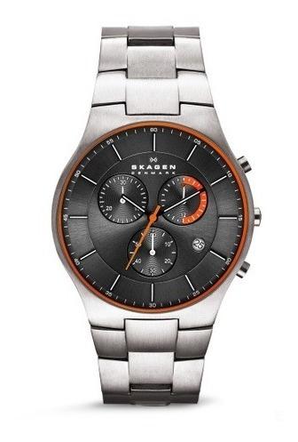 Relógio Skagen Balder Skw6076 Titanium Com Nf