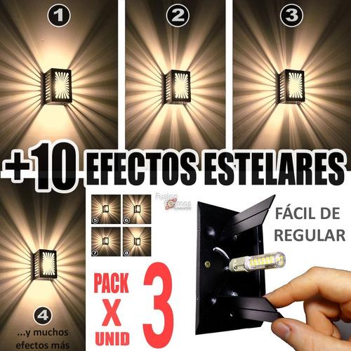 Imagen 1 de 10 de Luces Bañador Proyecta Efectos Estrella Apto Led Pack X3unid