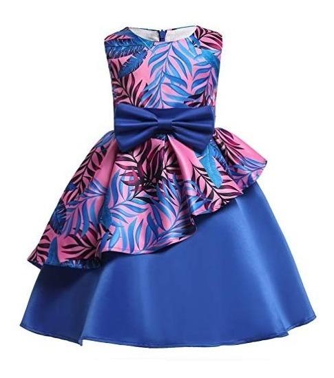 Vestido 2 A 9 Años Fiesta Boda Graduación Nssmwt Xv Azul