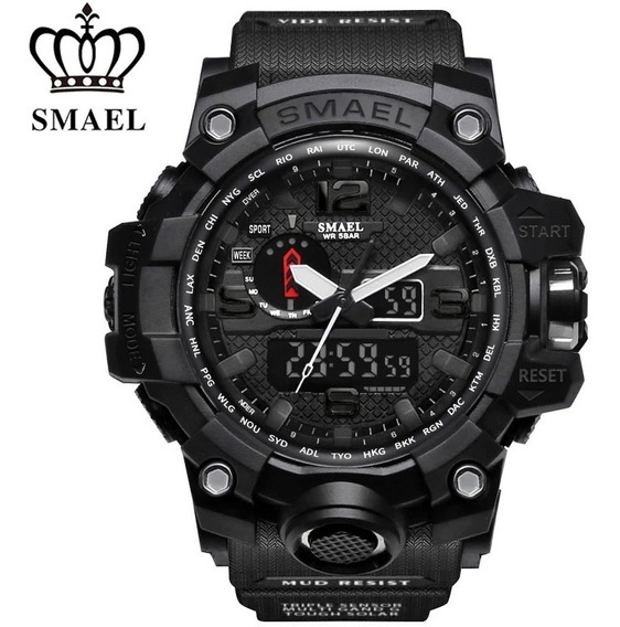 2 Relógios Masculino Smael 1545+8010 Prova D