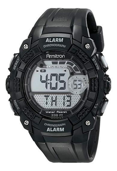 Reloj Armitron Deportivo Hombre Digital Cronógrafo Negro