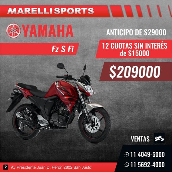 Yamaha Fz S Fi Marelli Sports, 12 Cuotas Sin Interés