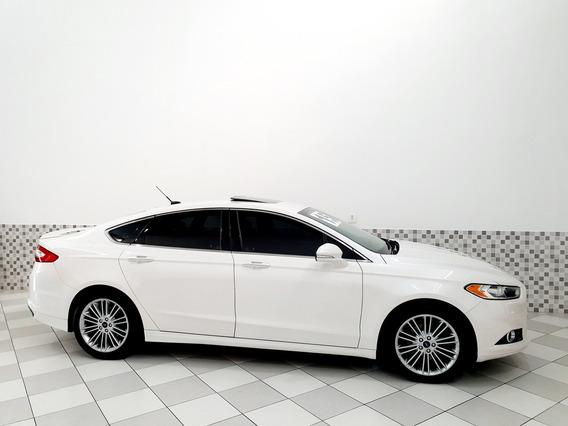 Ford Fusion Titanium 2.0 16v Fwd 2015 Branco Teto Solar