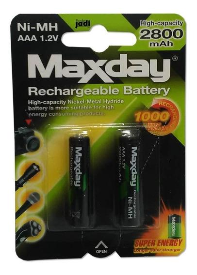 Pila Recargable Aaa Marca Maxday 2800 Mah / 1.2 Volt. Sl 2ve