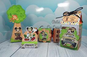 Sacolinha Surpresa Personalizada Mickey Safari 40 Cx