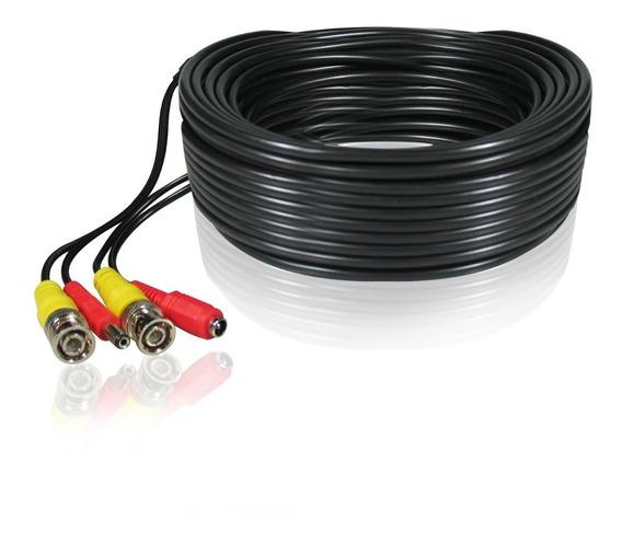 Cable Seguridad Camaras 30 Metros Bnc - Dc