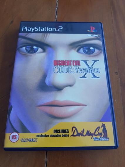 Resident Evil Code Veronica X + Bônus Ps2 Europeu Original