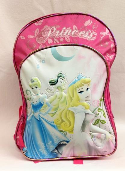 Mochila Disney Princesas Wabro Original-infantil-con Brillos