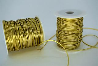 Cordão Fio Elástico Fitilho Com Elastano Dourada 50metros