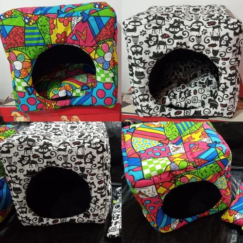 Cama Cubo Para Gatos /perros Razas Chicas