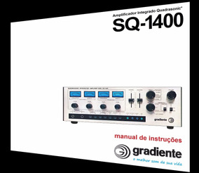 Manual Do Amplificador Gradiente Sq-1400 (cópia Colorida)