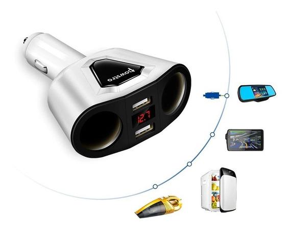 Medidor De Bateria + Carregador 2x Usb Celular 12v 24v Carro