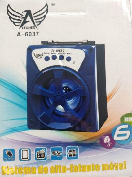 Caixinha A-6037 De Som Portátil Mp3 Bluetooth Fm Pen Drive