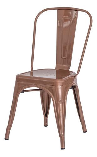 Imagem 1 de 5 de Cadeira Tolix Iron Design Rose Gold