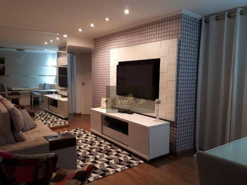 Apartamento Com 3 Dormitórios À Venda, 74 M² Por R$ 480.000,00 - Santo Amaro - São Paulo/sp - Ap41520