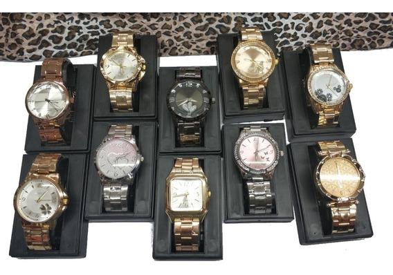 Kit Relógio Feminino Lote C/10pcs Atacado E Revenda Novidade