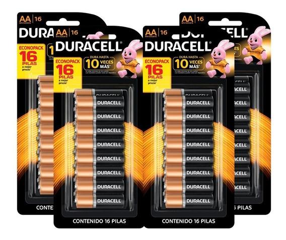 Pilha Duracell Original Aa (pequena) Kit C/ 4 Cartelas(16 Unidades)
