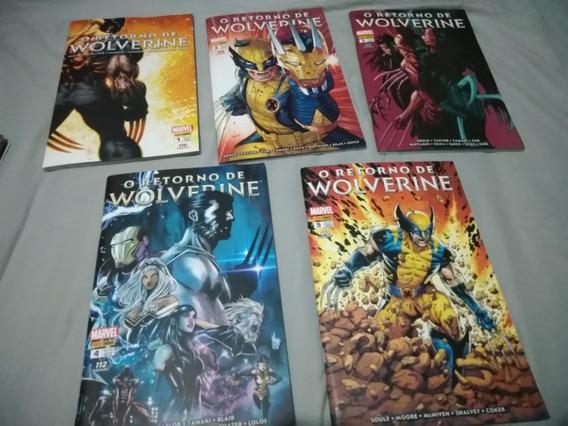 O Retorno De Wolverine 1 Ao 6 Completo Panini