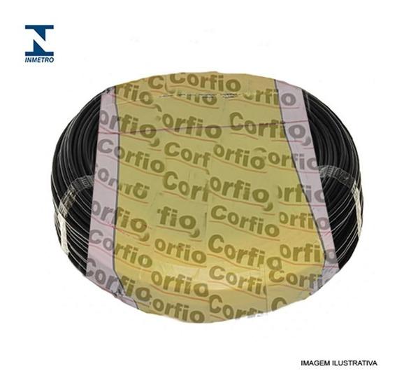 Fio Cabo Elétrico 2.5mm Corfio Preto Rolo 100m Full
