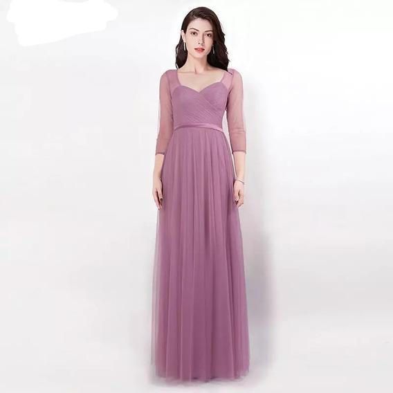 Vestido Mujer Elegante Fiesta Delicado Largo Coctel Prom
