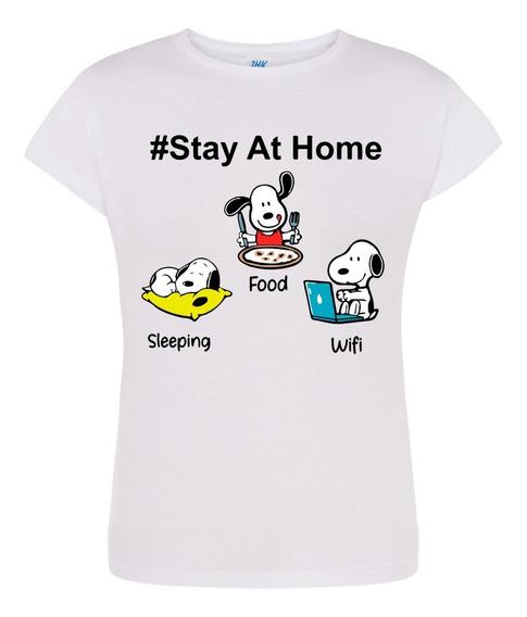 Playera Snoopy En Cuarentena: Yo Me Quedo En Casa