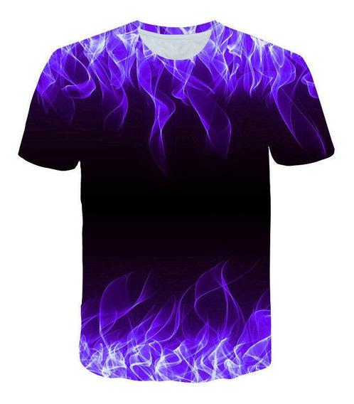 Hombre T-shirt Fuego Impresión 3d Casual Mangas Cortas Cami