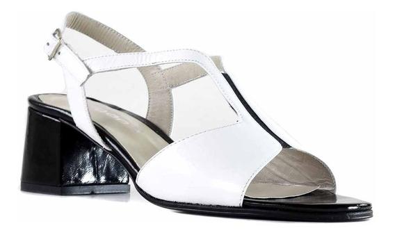 Sandalia Zapato Vestir Mujer Taco Cuero Briganti - Mcsd04557