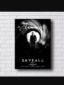 Quadro Estilo Poster 007 Skyfall Tamanho 30x42