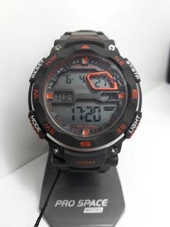 Reloj Digital Pro Space Psh0059-dir-8h Sumergible Crono