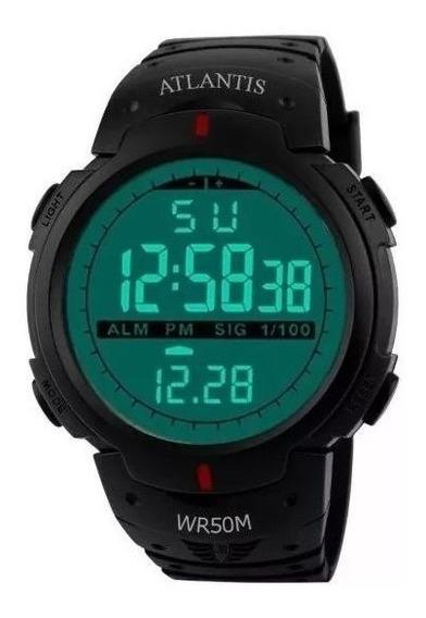 Relógio Atlantis Militar Original 7330 + Bateria Reserva