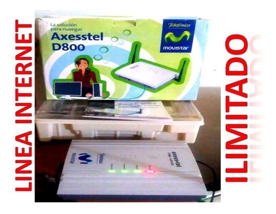 Modem Axesstel Con Linea Internet Ilimitado + Actualizacion