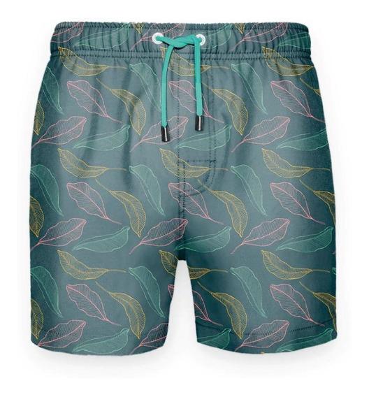 Traje De Baño Regular Hojas Colores Crouch
